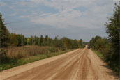 The country road.