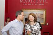Oliver Tschirki and Sofia Komarova (Artvera's Art Gallery).
