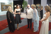 Gala preview. His Royal Highness Prince Michael of Kent with her Royal Highness Princess Michael of Kent (Baroness Marie Christine von Reibnitz).