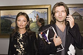 Russian pop star Dmitry Malikov and his wife.