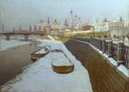 Михаил Гермашев. Вид на Кремль с Москва-реки