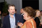 Анатолий Беккерман (A.B.A. Gallery, New York) и Лидия Иовлева (ГТГ)